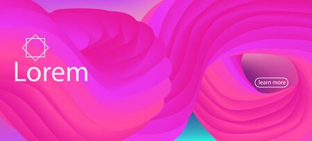 Colorful Lucid Gradient Wallpaper. Landing Page, Pink, Purple Background. Neon Color Website Layout. Dynamic Movement Funky Wave. 3d Fluid Vibrant Vector Background. Trendy Liquid Shape Banner.