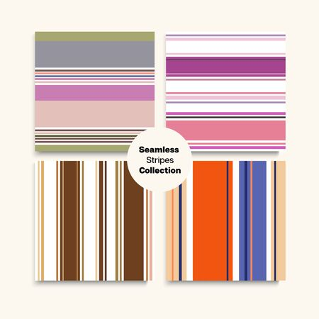 Sailor Stripes Seamless Pattern Set. Summer Autumn Funky Fashion Fabric. Elegant Lines Endless Design. Female Male Childrens Seamless Stripes Texture. Trendy Fashion Background Training Suit Lines