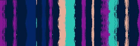 Funky Vertical Stripes Seamless Background. Gouache Ink Lines Texture. Dirty Vector Watercolor Paint Lines. Summer Spring Graffiti Stripes. Torn Distress Trace. Winter Autumn Modern Fashion Fabric.