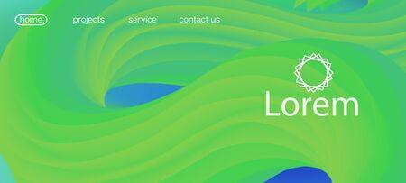 3d Fluid Lucid Vector Background. Landing Page, Green, Purple Background. Colorful Vivid Gradient Wallpaper. Dynamic Movement Modern Wave. Trendy Liquid Wave Banner. Neon Color Website Design.