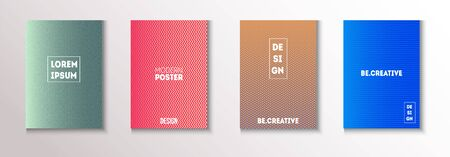 Folded Minimal Cover Vector Set. Modern Flyer Graphic Design. Cool Technology Wallpaper. Pattern Gradient Overlay Business Folder. 80s Neon Music Poster. Minimal Covers Set. Funky Magazine Page.