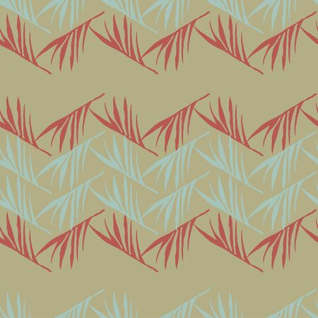 Hipster Tropical Vector Seamless Pattern. Nice Summer Fabrics. Feather Dandelion Banana Leaves Monstera Tropical Seamless Pattern. Beautiful Male Shirt Female Dress Texture. Drawn Floral Background. 일러스트