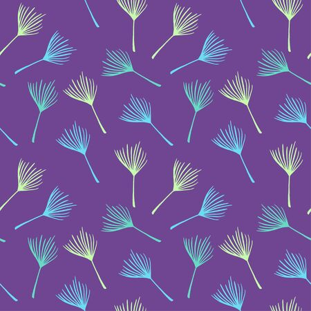Trendy Tropical Vector Seamless Pattern. Fine Summer Textile. Beautiful Male Shirt Female Dress Texture. Painted Floral Background. Banana Leaves Dandelion Feather Monstera Tropical Seamless Pattern.