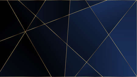 Blue Premium Triangular Pattern. Silver Rich VIP Geometric Celebration Wallpaper. Gold Lines Polygon Luxury Frame. Crystal Triangle Blue Premium Background. Elegant Dark Platinum Chic Shapes Border Vettoriali