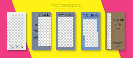 Modern Stories Vector Background. Minimal Sale, New Arrivals Story Layout. Online Shop Polygon Invitation Advert. Blogger Minimal Cards, Social Media Kit Template. Social Media Stories Simple Set