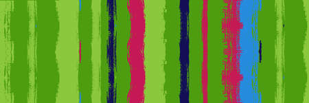 Funky Vertical Stripes Seamless Background. Dirty Vector Watercolor Paint Lines. Torn Graffiti Trace. Winter Autumn Trendy Fashion Textile. Gouache Ink Lines Banner. Summer Spring Distress Stripes.