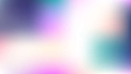 Unfocused Mesh Vector Background, Hologram Bright Overlay. Glitch Pink, Purple, Turquoise Dreamy Tender Cool Girlie Background. Rainbow Fairytale Texture Iridescent Pearlescent Holographic Paper