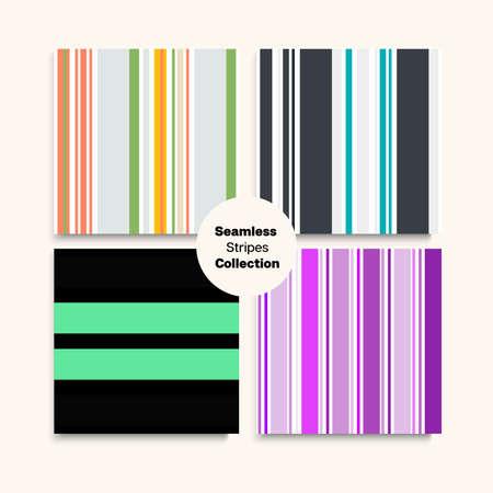 Sailor Stripes Seamless Design Set. Childrens Male Female Seamless Stripes Texture. Funky Lines Endless Pattern. Training Suit Lines Summer Winter Elegant Fashion Print. Trendy Fashion Background