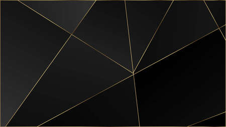 Black Luxury Polygon Pattern. Silver Rich VIP Geometric Celebration Background. Elegant Dark Platinum Chic Shapes Frame Crystal Triangle Black Premium Wallpaper. Gold Lines Triangular Premium Border.