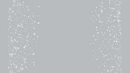 Heavy Snowfall, Falling Snow. Winter Holidays Storm Background. Advertising Frame, New Year, Christmas Weather. Falling Snowflakes, Night Sky. Elegant Scatter, Grunge White Glitter. Cold Heavy Snow