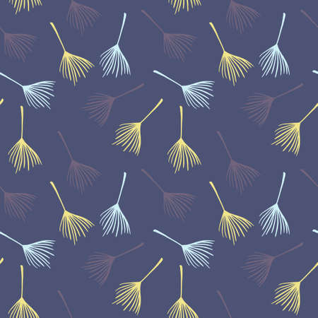 Hipster Tropical Vector Seamless Pattern. Nice Summer Fabrics. Elegant Male Shirt Female Dress Texture. Drawn Floral Background. Monstera Banana Leaves Feather Dandelion Tropical Seamless Pattern. Illustration