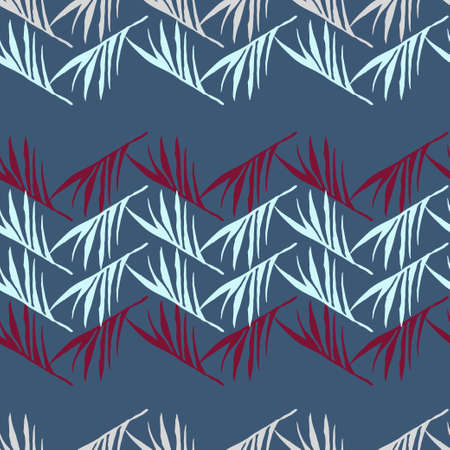 Modern Tropical Vector Seamless Pattern. Painted Floral Background. Banana Leaves Monstera Feather Dandelion Tropical Seamless Pattern. Elegant Male Shirt Female Dress Texture. Nice Summer Fashion.