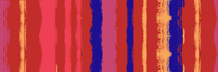 Funky Vertical Stripes Seamless Background. Winter Autumn Modern Fashion Fabric. Spring Summer Distress Stripes. Cool Graffiti Trace. Hand Drawn Lines Design. Dirty Vector Watercolor Paint Lines.