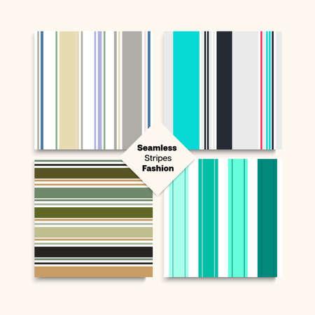 Sailor Stripes Seamless Pattern Set. Autumn Spring Elegant Fashion Print. Retro Lines Endless Design. Hipster Fashion Background Male Female Childrens Seamless Stripes Texture. Training Suit Lines Illustration