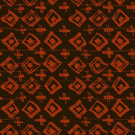 Tie Dye Japanese Geometric Shibori Seamless Pattern. Scribble Cartoon Doodle Craft Texture. Geo Wabi Sabi Traditional Kimono Print. Boho Tie Dye Paint Batik. Scribble Craft Doodle Seamless Collage Illustration