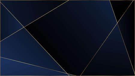 Blue Premium Polygon Pattern. Elegant Dark Platinum Chic Shapes Frame Rich Silver VIP Geometric Celebration Wallpaper. Crystal Triangle Blue Luxury Background. Gold Lines Triangular Luxury Poster.