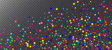 Rainbow Confetti Festive Vector Wallpaper. Christmas, New Year, Birthday Magic Decoration. Carnival Motion Garland. Falling Down Gleam Sequins Frame. Rainbow Confetti Falling. Holiday Celebration Illustration