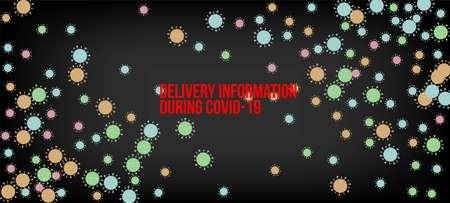 Delivery During COVID-19 Banner. Business Information During Coronavirus Quarantine. Flat Cartoon Coronavirus Medical Banner. Delivery During COVID-19 Banner. Virus Protection Flat Corona Web Page. Illustration