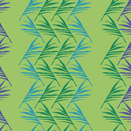Funky Tropical Vector Seamless Pattern. Nice Summer Textile. Banana Leaves Dandelion Feather Monstera Tropical Seamless Pattern. Beautiful Male Shirt Female Dress Texture. Painted Floral Background.