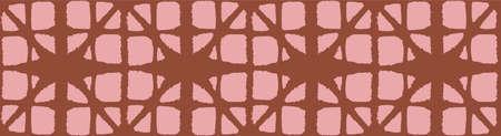 Japanese Tie Dye Seamless Pattern. Premium Japanese Clothes Print. Bohemian Kimono Textile. Retro Shibori Seamless Pattern. Soft Shape Shell Texture Bohemian Geometric Asian Tie Dye Pattern. Illustration