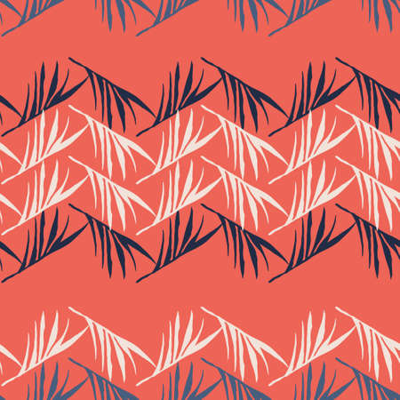 Trendy Tropical Vector Seamless Pattern. Beautiful Male Shirt Female Dress Texture. Monstera Dandelion Banana Leaves Feather Tropical Seamless Pattern. Nice Summer Fashion. Doodle Floral Background.