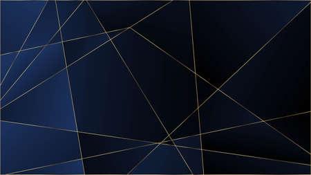 Blue Luxury Polygon Texture. Gold Lines Triangular Premium Frame. VIP Rich Silver Geometric Celebration Background. Crystal Triangle Blue Luxury Wallpaper. Elegant Dark Platinum Chic Shapes Poster