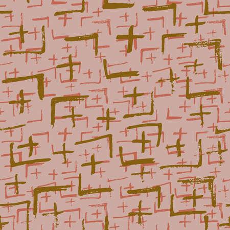 Tie Dye Japanese Geometric Modern Seamless Pattern. Geo Wabi Sabi Minimalist Kimono Print. Boho Tie Dye Folk Batik. Scribble Cartoon Doodle Craft Texture. Scribble Craft Doodle Seamless Collage