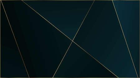 Blue Luxury Polygon Pattern. Gold Lines Triangular Premium Frame. Elegant Dark Platinum Chic Shapes Poster Crystal Triangle Blue Luxury Background. Rich VIP Silver Geometric Celebration Wallpaper. Illustration