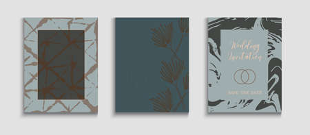 Abstract Vintage Vector Banners Set. 일러스트