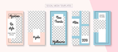 Social Stories Cool Vector Layout. Modern Sale, New Arrivals Story Layout. Online Shop Graphic Graphic Phone.  Trendy Cards, Social Media Kit Template. Social Media Stories VIP Layout