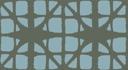 Japanese Tie Dye Seamless Pattern. Boho Curve Shell Print Retro Shibori Seamless Pattern. Glamour Kimono Textile. Premium Japanese Clothes Texture. Bohemian Geometric Asian Tie Dye Pattern.
