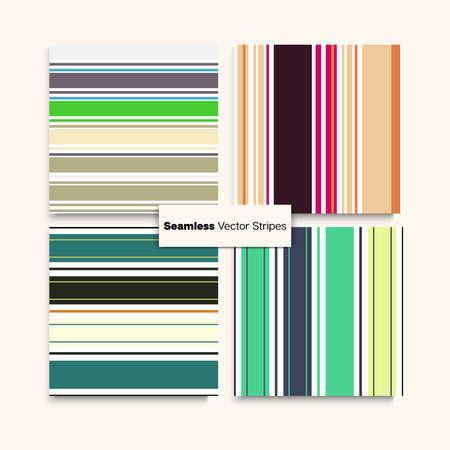 Sailor Stripes Seamless Pattern Set. Funky Lines Endless Texture. Elegant Fashion Background Winter Summer Vintage Fashion Fabric. Business Suit Lines Male Female Childrens Seamless Stripes Design.