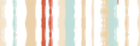 Funky Vertical Stripes Seamless Background. Spring Summer Graffiti Stripes. Cool Vector Watercolor Paint Lines. Torn Distress Trace. Paintbrush Lines Texture. Winter Autumn Bright Fashion Print. Иллюстрация