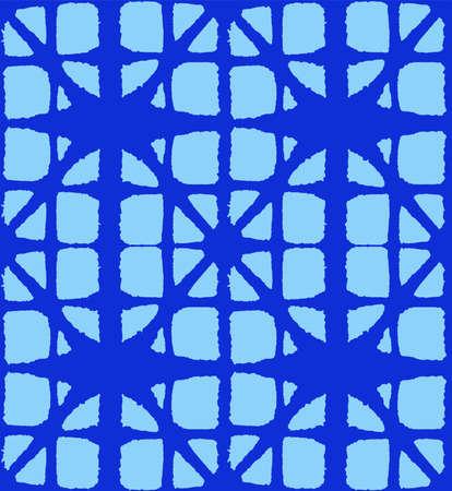 Japanese Tie Dye Seamless Pattern. Deco Curve Shape Pattern Luxurious Japanese Clothes Texture. Glamour Kimono Textile. Artistic Shibori Seamless Pattern. Bohemian Geometric Asian Tie Dye Design.