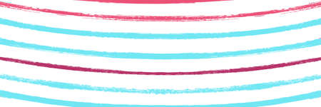 Cool Wavy Zigzag Stripes Vintage Pattern. Torn Distress Trace. Cool Vector Watercolor Paint Lines. Spring Summer Graffiti Stripes. Autumn Winter Bright Fashion Print. Hand Painted Lines Texture. Иллюстрация
