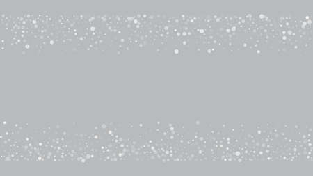 Realistic Snow, Gray Winter. Winter Holidays Storm Background. Falling Snowflakes, Night Sky. Advertising Frame, New Year, Christmas Weather. Elegant Scatter, Grunge White Glitter. Cold Realistic Snow Stock fotó - 155445100