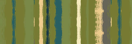 Funky Vertical Stripes Seamless Background. Dirty Vector Watercolor Paint Lines. Autumn Winter Funky Fashion Fabric. Torn Graffiti Trace. Paintbrush Lines Design. Summer Spring Distress Stripes.