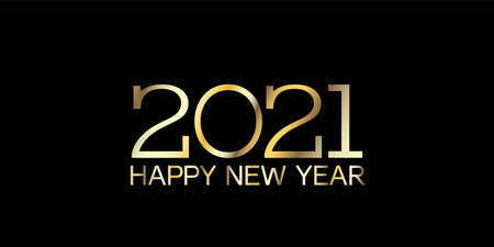 Golden 2021 Sparkling Border Graphic 2021 Icon Texture. Happy New Year Poster Design. Christmas  Wallpaper. Golden 2021 Sparkling Text Typography. Winter Holiday Celebration Card. 向量圖像