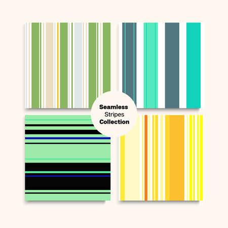 Sailor Stripes Seamless Texture Set. Summer Winter Elegant Fashion Fabric. Vintage Fashion Background Retro Lines Endless Pattern. Training Suit Lines Male Childrens Female Seamless Stripes Design.