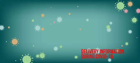 Delivery During COVID-19 Banner. Virus Protection Flat Corona Web Page. Business Information During Coronavirus Quarantine. Delivery During COVID-19 Banner. Flat Cartoon Coronavirus Medical Banner.