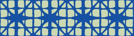 Japanese Tie Dye Seamless Pattern. Artistic Shibori Seamless Pattern. Bohemian Geometric Asian Tie Dye Print. Premium Japanese Clothes Pattern. Elegant Kimono Fabric. Deco Curve Shell Texture 向量圖像