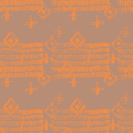 Tie Dye Japanese Geometric Summer Seamless Pattern. Scribble Cartoon Doodle Craft Texture. Boho Tie Dye Asian Batik. Geo Wabi Sabi Minimalist Kimono Print. Scribble Craft Doodle Seamless Collage