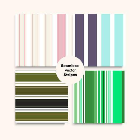 Sailor Stripes Seamless Pattern Set. Swimming Suit Lines Elegant Lines Endless Texture. Trendy Fashion Background Summer Winter Modern Fashion Print. Female Childrens Male Seamless Stripes Design.