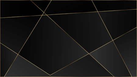 Black Luxury Triangular Texture. Gold Lines Polygon Premium Border. VIP Silver Rich Geometric Celebration Background. Crystal Triangle Black Premium Wallpaper. Elegant Dark Platinum Chic Shapes Frame