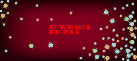 Delivery During COVID-19 Banner. Flat Cartoon Coronavirus Medical Banner. Business Information During Coronavirus Quarantine. Delivery During COVID-19 Banner. Virus Protection Flat Corona Web Page. 向量圖像