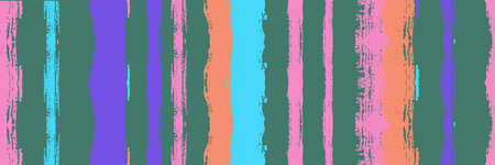 Funky Vertical Stripes Seamless Background. Spring Summer Distress Stripes. Ink Brushed Lines Texture. Cool Graffiti Trace. Torn Vector Watercolor Paint Lines. Autumn Winter Funky Fashion Textile.