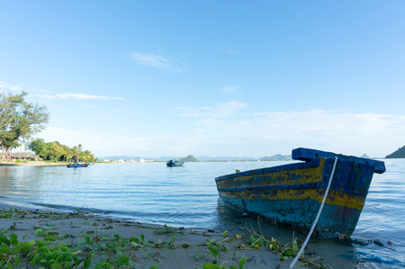 khan: Small fishing boats at Ao Prachuap. Prachuap Khiri Khan Province