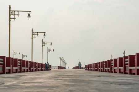 khan: Port area Ao Prachuap, Prachuap Khiri Khan province in Southern Thailand Stock Photo