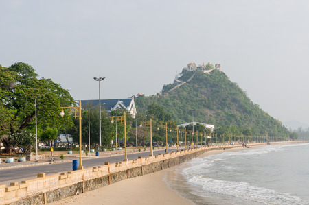 southern thailand: Ao Prachuap area and Khao Chong Krachok background, Prachuap Khiri Khan province in Southern Thailand