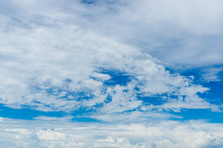 fluffy: Fluffy clouds on the blue sky